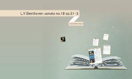 L.V Beethoven sonata op.31-3 no.3