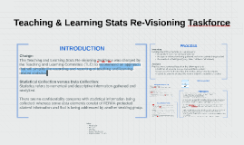 Teaching & Learning Stats