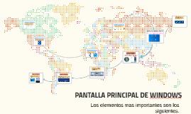 PANTALLA PRINCIPAL DE WINDOWS