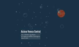 Acceso Venoso Central