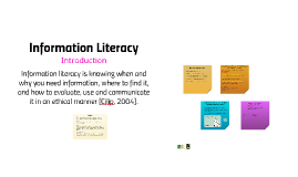 Information Literacy: Introduction