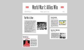 World War I: Allies Win