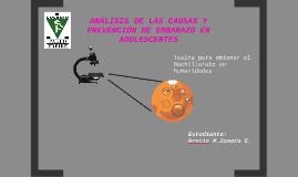 ANÁLISIS DE LAS CAUSAS Y PREVENCIÓN DE EMBARAZO EN ADOLECESCENTES