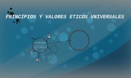 principios y valores eticos universales