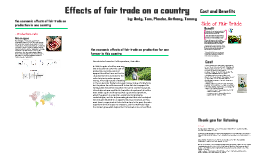 Effects of fair trade on production in one Country