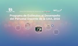 Programa de Estímulos al Desempeño del Personal Docente de la