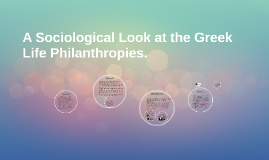 A Sociological look at the Greek Life Philanthropies.