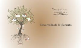 Desarrollo de la placenta.