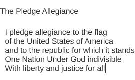 The Pledge Allegiance