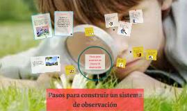 Copy of Pasos para construir un sistema de observación