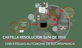 Cartilla resolución 2674 de 2013