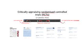 Critically appraising randomised controlled trials (RCTs)