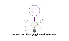 Innovation Plan: Jegykezelő fejlesztés