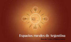 Espacios rurales de Argentina