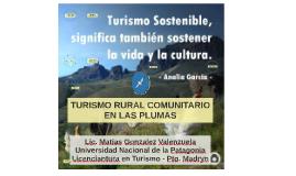 EL TURISMO RURA COMUNITARIO EN LAS PLUMAS