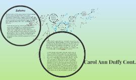 Carol Ann Duffy Cont.