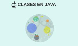 CLASES EN JAVA