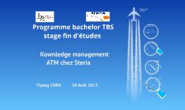 Soutenance stage fin d'étude Bachelor ESC TOULOUSE Yiyang CHEN