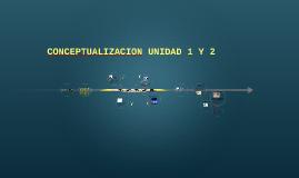 CONCEPTUALIZACION UNIDAD 1 Y 2