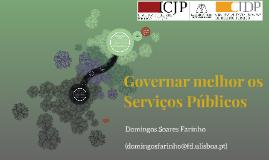 Governar melhor os Serviços Públicos