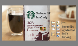 Starbucks CSR Case
