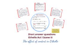 Othello Past Paper