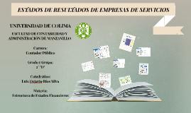 ESTADOS DE RESULTADOS DE EMPRESAS DE SERVICIOS