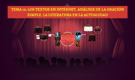 TEMA 12: LOS TEXTOS EN INTERNET. ANÁLISIS DE LA ORACIÓN SIMP