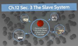 Ch.12 Sec. 4 Life Under Slavery