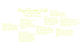 Royal Sweets Cafe