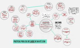 Copy of POLÍTICAS PUBLICAS DE SAÚDE DE 88 ATÉ 2016
