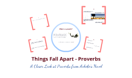 things fall apart proverbs essay