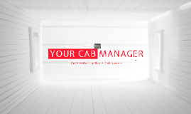 Your Cab Manager - Intelligent Cab System