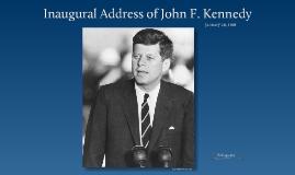 Inaugural Address of John F. Kennedy