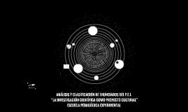 """ANÁLISIS Y CLASIFICACIÓN DE ENUNCIADOS DEL P.E.I. """"LA INVEST"""
