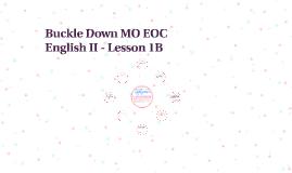 Copy of Buckle Down MO EOC English II