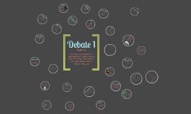 Debate 1
