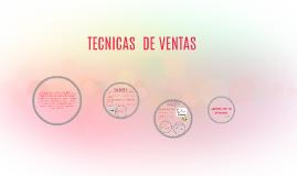 Copy of TECNICAS  DE VENTAS