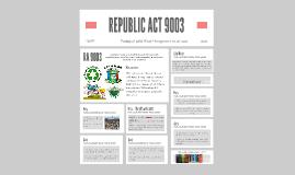 REPUBLIC ACT 9003