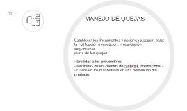 MANEJO DE QUEJAS