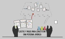 COSTOS Y PASOS PARA CONSTITUIR UNA PERSONA JURIDICA