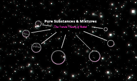 Pure Substances & Mixtures: The Particle Theory of Matter