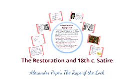 Alexander Pope's The Rape of the Lock (spring 2018)