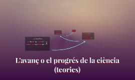 L'avanç o el progrés de la ciència (teories)