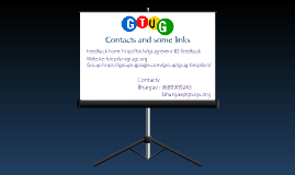 Contacts and links of GTUG