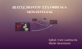 IRATXE,IRANTZU ETA ORREGAKO MONASTEGIAK