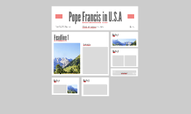 Pope Francis Comes to U.S.A