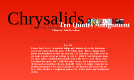 Copy of Chrysalids: 10 Quotes Assignment