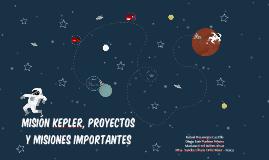 Misión Kepler y misiones importantes