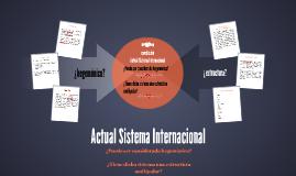 actual sistema internacional
